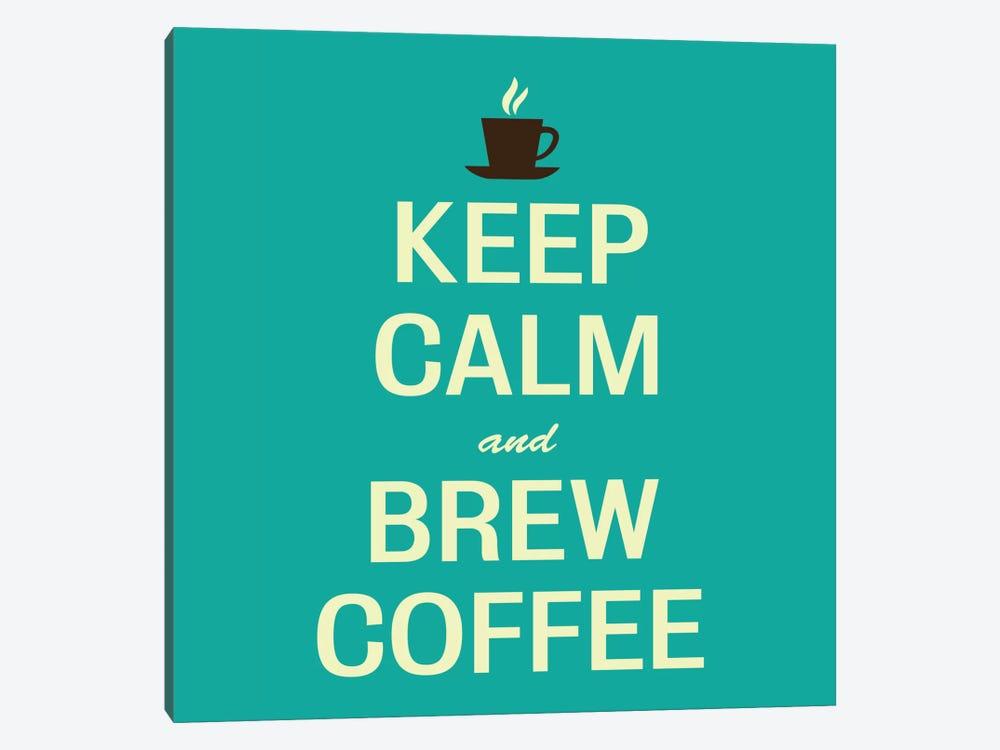 Keep Calm & Brew Coffee II by Unknown Artist 1-piece Canvas Wall Art