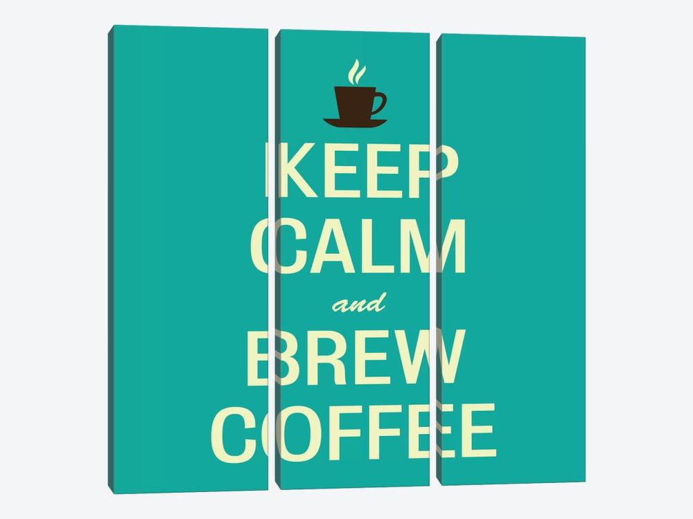 Keep Calm & Brew Coffee II by Unknown Artist 3-piece Canvas Wall Art