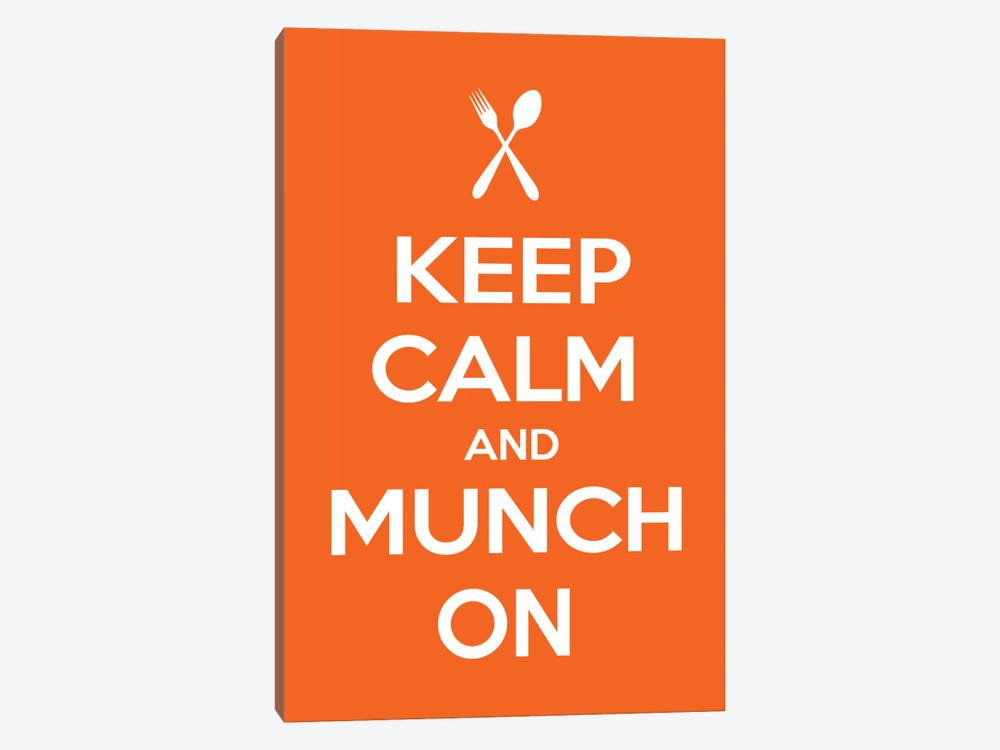 Keep Calm & Munch On by iCanvas 1-piece Canvas Art Print