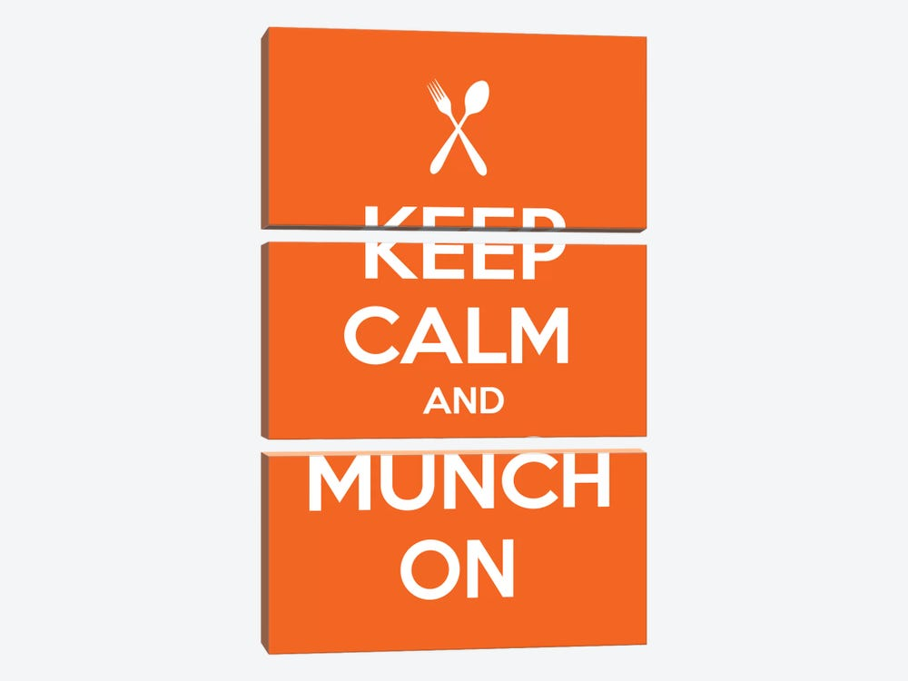 Keep Calm & Munch On by Unknown Artist 3-piece Art Print