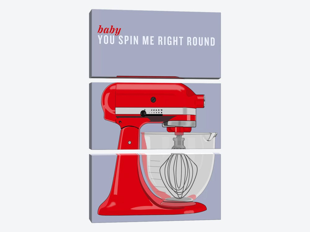 Baby You Spin Me Right Round by iCanvas 3-piece Canvas Print