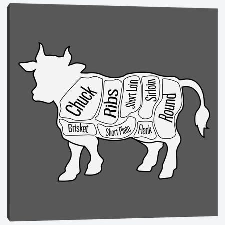 Beef Chart Canvas Print #KCH25} by Unknown Artist Canvas Print