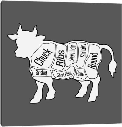 Beef Chart Canvas Art Print