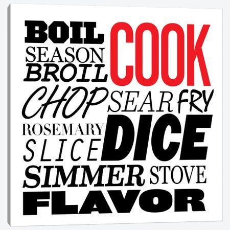 Cooking Verbs Canvas Print #KCH3} by Unknown Artist Art Print