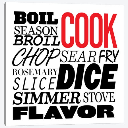 Cooking Verbs Canvas Print #KCH3} by iCanvas Art Print