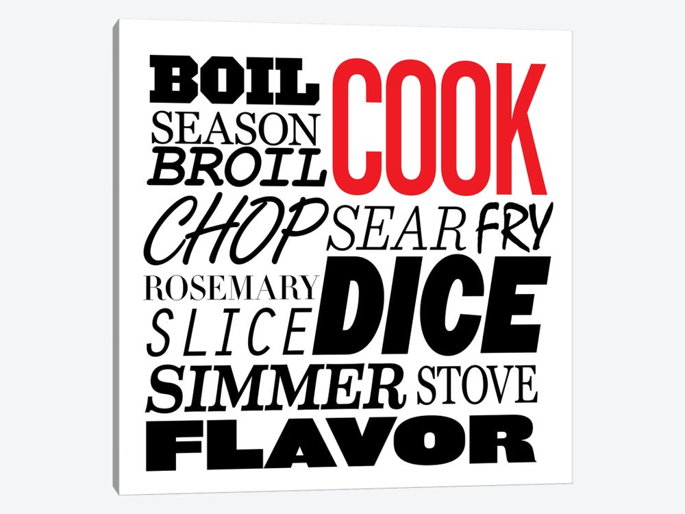 Cooking Verbs by iCanvas 1-piece Canvas Art Print