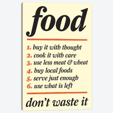 Don't Waste Food Canvas Print #KCH6} by Unknown Artist Canvas Art