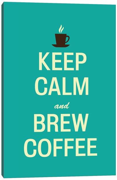 Keep Calm & Brew Coffee Canvas Art Print
