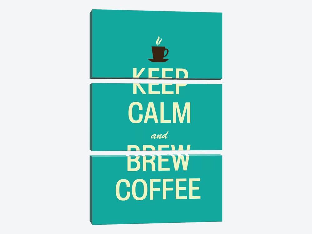 Keep Calm & Brew Coffee by Unknown Artist 3-piece Canvas Art Print