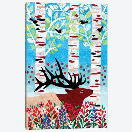 Forest Creatures I Canvas Print #KCN1} by Kim Conway Canvas Art Print