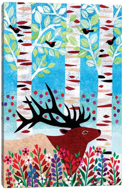 Forest Creatures I Canvas Art Print