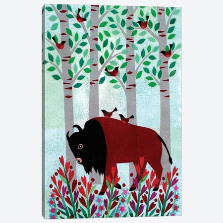 Forest Creatures VI Canvas Print #KCN7} by Kim Conway Canvas Wall Art