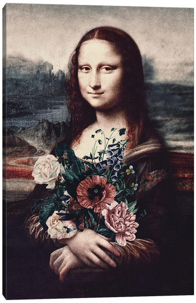 Lisa & Flowers Canvas Art Print