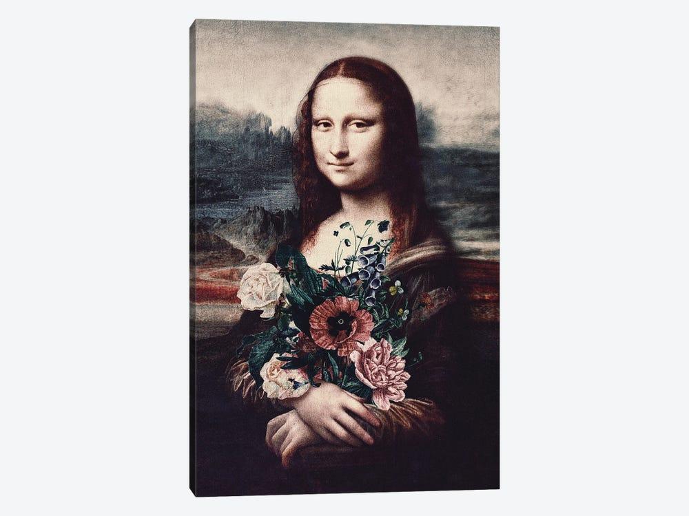 Lisa & Flowers by Karen Cantuq 1-piece Canvas Art Print