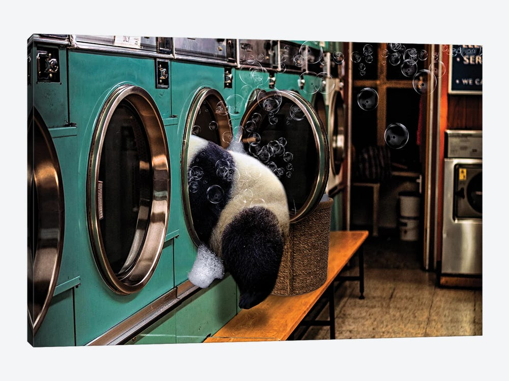 Laundry Day by Karen Cantuq 1-piece Canvas Wall Art