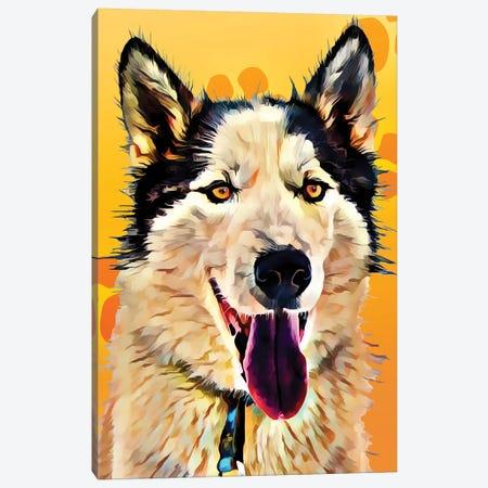Pop Dog XIII Canvas Print #KCU13} by Kim Curinga Canvas Wall Art
