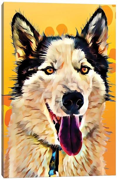 Pop Dog XIII Canvas Art Print