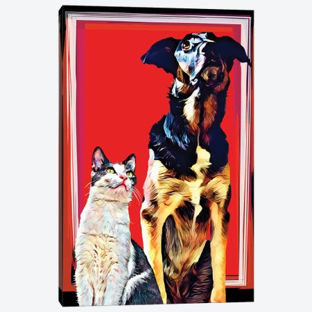 Pop Dog XV Canvas Print #KCU15} by Kim Curinga Art Print