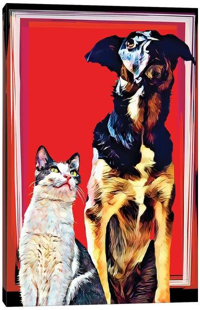 Pop Dog XV Canvas Art Print
