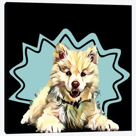 Pop Dog IV Canvas Print #KCU4} by Kim Curinga Canvas Wall Art