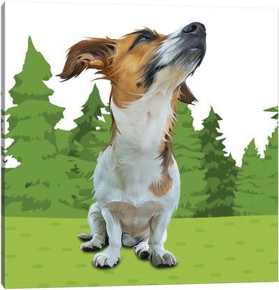 Forest Beagle Canvas Art Print