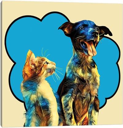 Pop Dog IX Canvas Art Print