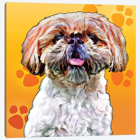Pop Dog VIII Canvas Print #KCU9} by Kim Curinga Canvas Print
