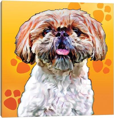 Pop Dog VIII Canvas Art Print