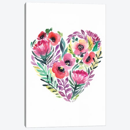 Flower Heart Canvas Print #KDI13} by Kirsten Dill Canvas Print