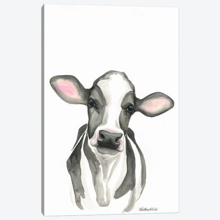 Holstein Calf Canvas Print #KDI18} by Kirsten Dill Canvas Art Print