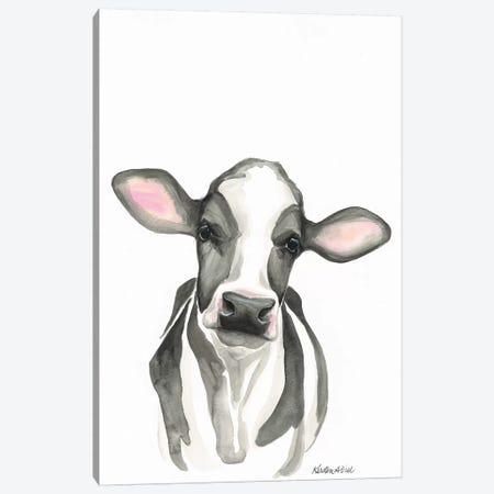 Holstein Calf Canvas Print #KDI18} by Kirsten Dill Canvas Art Print