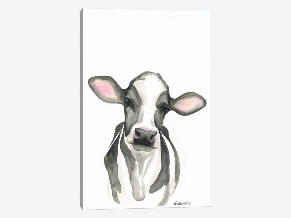 Holstein Calf by Kirsten Dill 1-piece Canvas Art Print