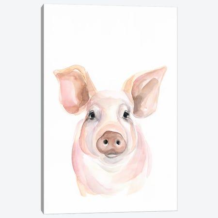 Pig Canvas Print #KDI25} by Kirsten Dill Art Print