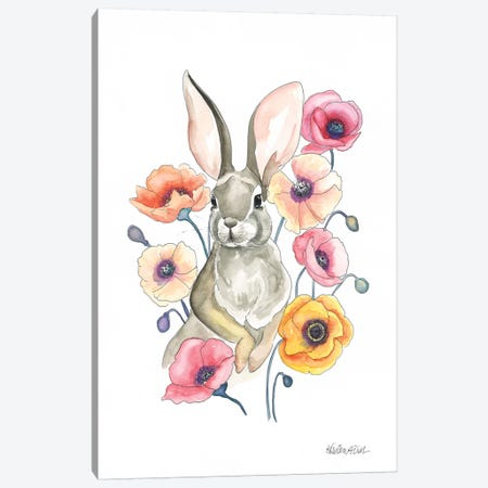 Poppy Bunny 3-Piece Canvas #KDI26} by Kirsten Dill Art Print