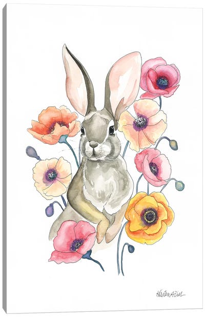 Poppy Bunny Canvas Art Print