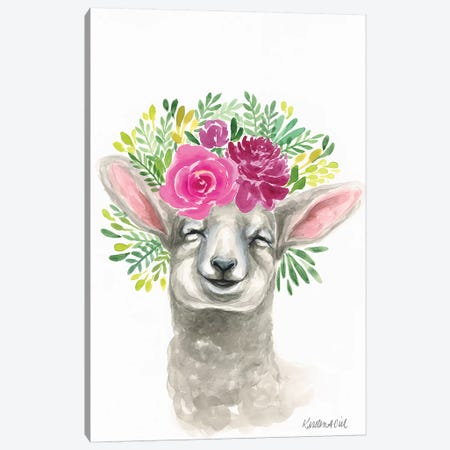 Spring Lamb Canvas Print #KDI29} by Kirsten Dill Canvas Artwork