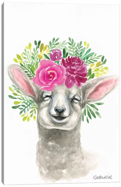 Spring Lamb Canvas Art Print