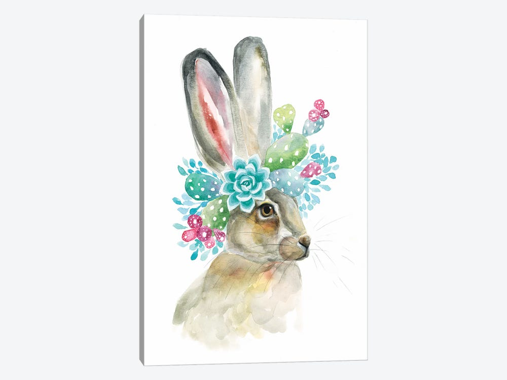 Cactus Bunny by Kirsten Dill 1-piece Art Print