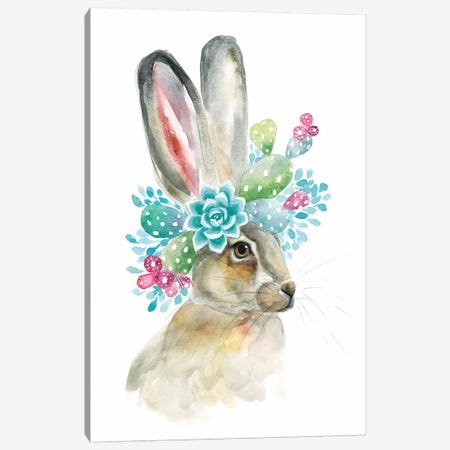 Cactus Bunny Canvas Print #KDI3} by Kirsten Dill Canvas Print