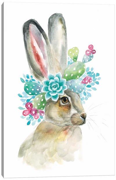 Cactus Bunny Canvas Art Print