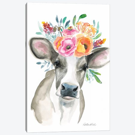 Cow Canvas Print #KDI7} by Kirsten Dill Canvas Wall Art
