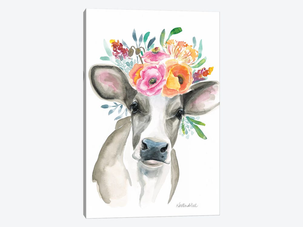 Cow by Kirsten Dill 1-piece Canvas Print
