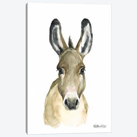 Donkey 3-Piece Canvas #KDI8} by Kirsten Dill Canvas Art Print