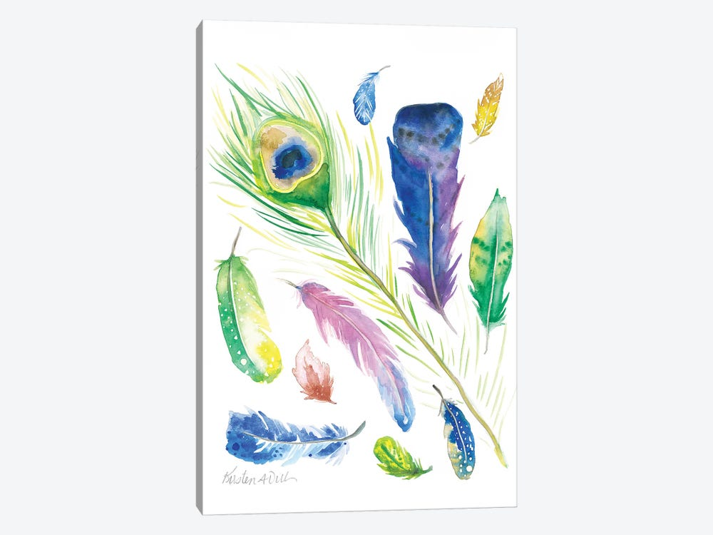 Feathers by Kirsten Dill 1-piece Canvas Art Print