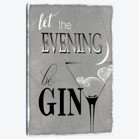 Evening Be Gin Canvas Print #KDO11} by Kelly Donovan Art Print