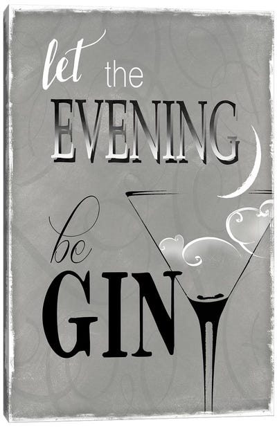 Evening Be Gin Canvas Art Print