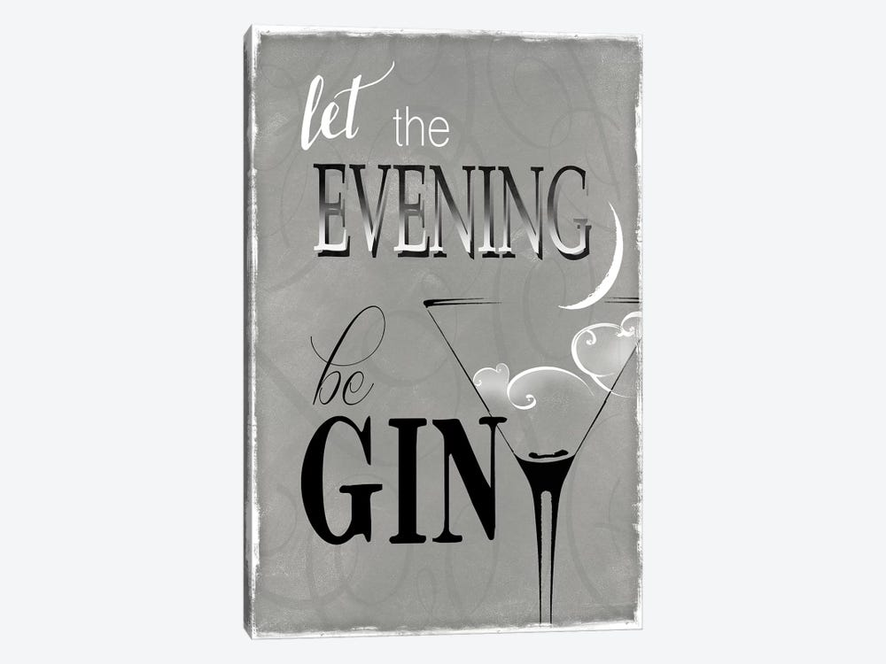 Evening Be Gin by Kelly Donovan 1-piece Canvas Wall Art
