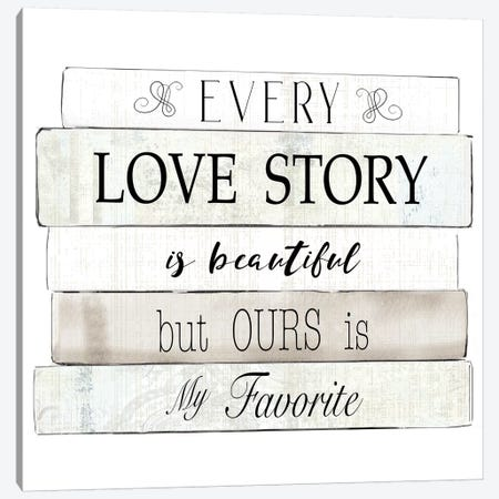 Every Love Story Canvas Print #KDO12} by Kelly Donovan Canvas Print