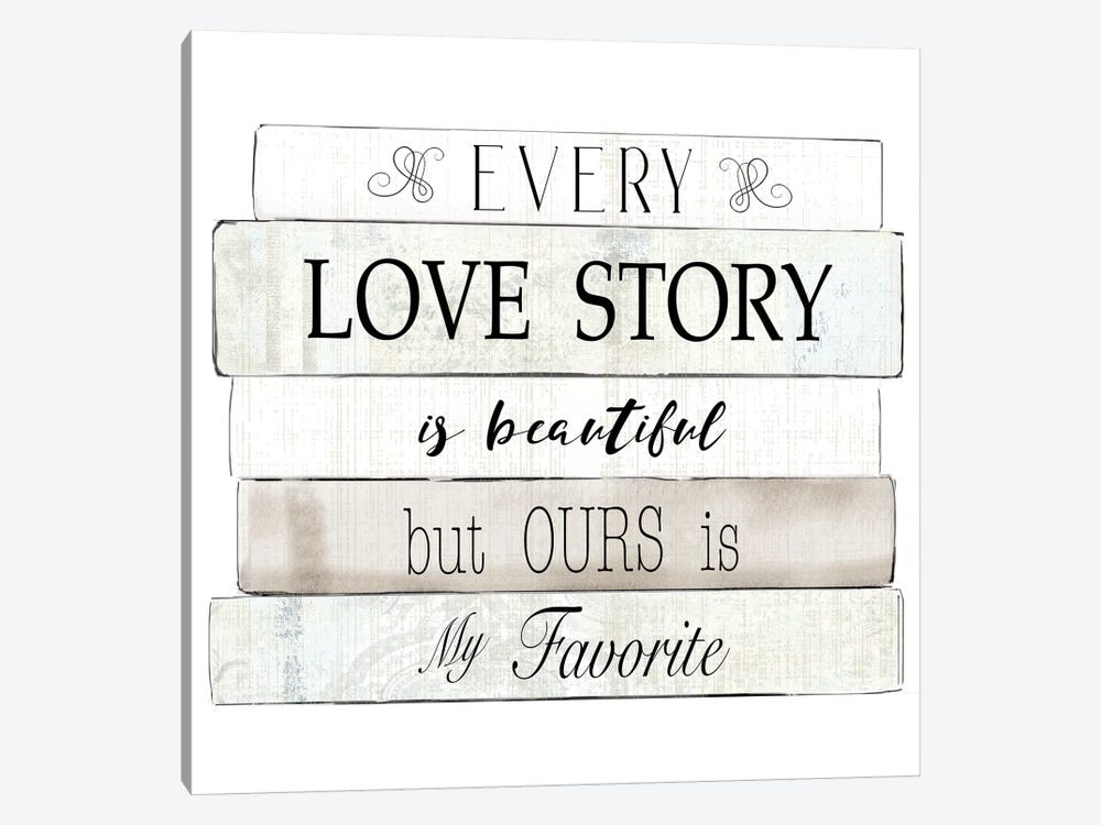 Every Love Story by Kelly Donovan 1-piece Canvas Art Print