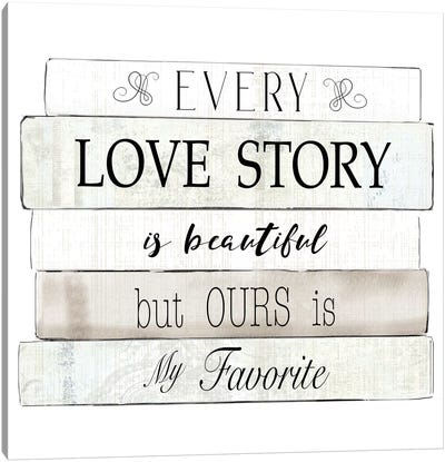 Every Love Story Canvas Art Print